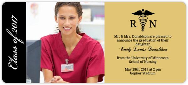 Nursing School Graduation Invitations Nursing School Graduation