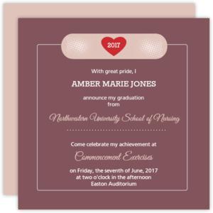 Bandage Nursing School Graduation Invitation