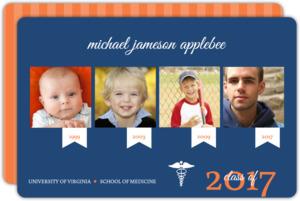 Blue and Orange Timeline Medical School Graduation
