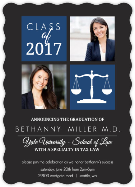 Law School Graduation Invitations & Law School Graduation
