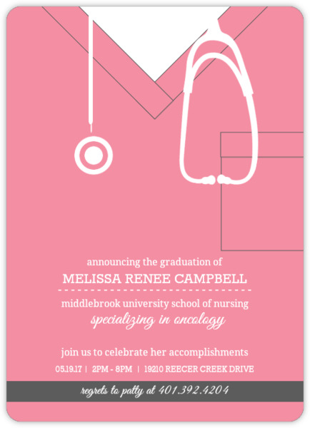 Nursing School Graduation Invitations Nursing School Graduation