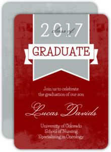 Red Nursing School Grad Invite