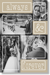Always & Forever Wedding Metal Print