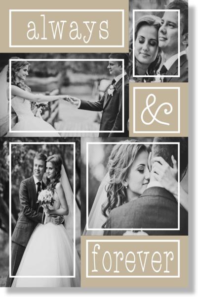Always & Forever Wedding Metal Print