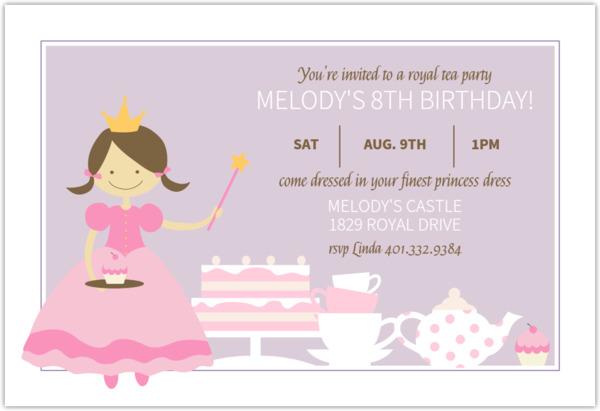 tea party birthday invitations, Birthday invitations