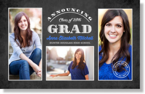 Chalkboard Graduation Banner