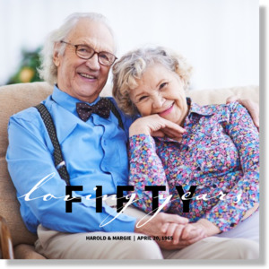 Fifty Loving Years Canvas Print