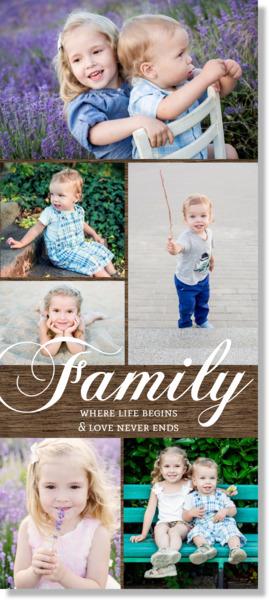 Woodgrain Family Canvas Print