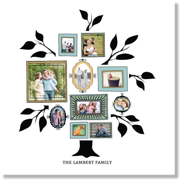 Vintage Frames Family Tree Canvas Print