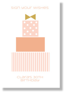 Modern Birthday Wishes Poster Print