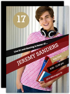 Modern Teen Birthday Invitation