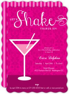 Shaken Not Stirred Martini 21St Birthday Invitation
