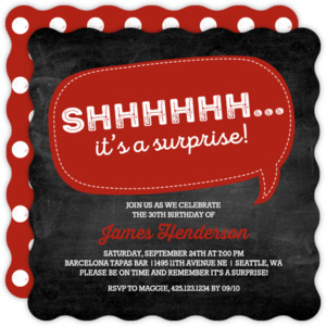 Speech Bubble Surprise Birthday Invitation