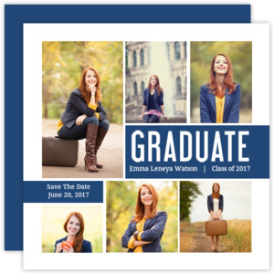 Modern Photo Collage Graduation Save The Date Announcement