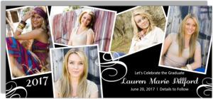 Elegant Photo Snap Shots Graduation Save The Date Announcement