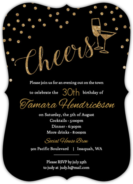 30th birthday invitations, Birthday invitations