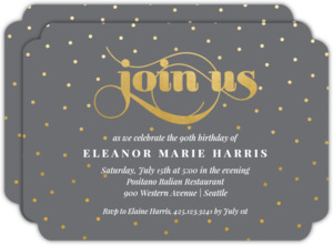 Celebration Dots Birthday Party Invitation