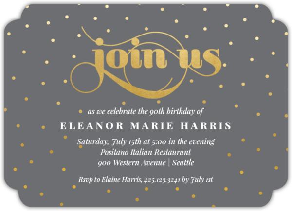 Celebration Dots Birthday Party Invitation Adult Birthday