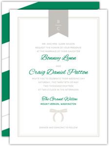 Preppy Chic Bow Wedding Invitation