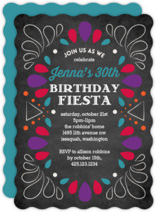 Fiesta Celebration Birthday Invitation