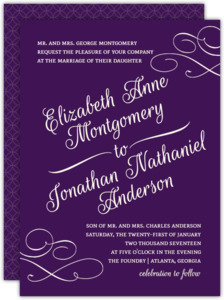 Royal Flourish Wedding Invitation
