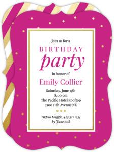 Classic Gold Dots Birthday Invitation