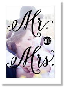 Mr and Mrs Typography Framed Print