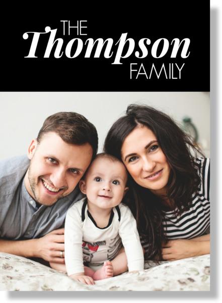 White On Black Family Name Photo Framed Print