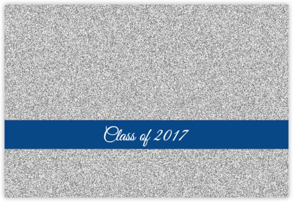 Classic Faux Silver Glitter Graduation Invitation Graduation