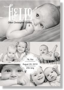 Baby Hello Framed Print