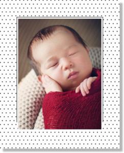 Polkadot Frame Baby Feet Framed Print