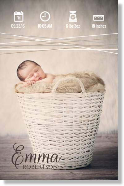 Keepsake Baby Birth Info Metal Print