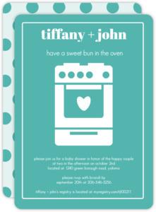 Bun in the Oven Baby Shower Invite