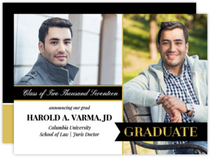 Banner Law School Graduation Announcement