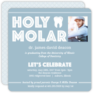 Holy Molar Dental School Graduation Invitation