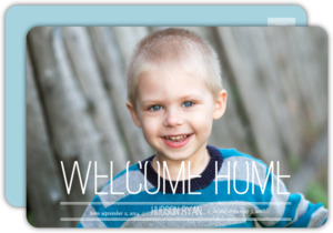 Full Photo Simple Postcard Adoption Announcement