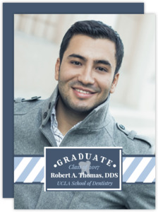 Modern Frame Dental School Graduation Announcement