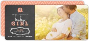 Elephant Chalkboard Pregnancy Announcement