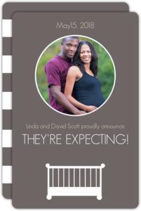 White Crib Pregnancy Announcement