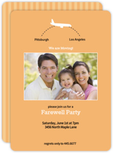 Bright Color Long Flight Farewell Party Invite