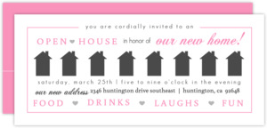 Gray and Bright Colors Hearts Open House Invitation