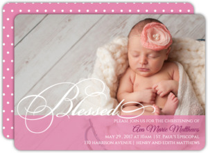 Blessed Christening Invitation
