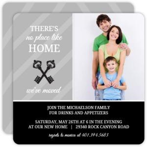 Black & White Elegant Keys Housewarming Invitation