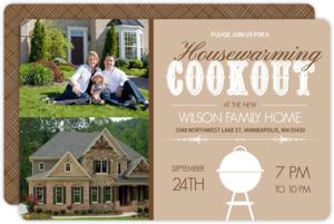 Fun Backyard Cookout Housewarming Invite