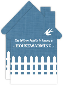 White Picket Fence Housewarming Party Invite