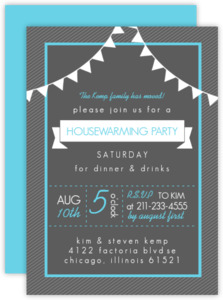 Charcoal Modern Housewarming Party Invitation