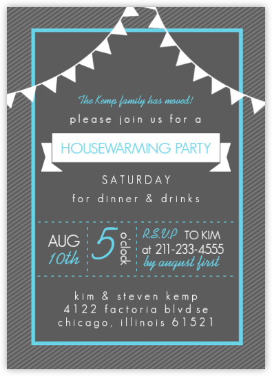 Charcoal Modern Housewarming Party Invitation Housewarming