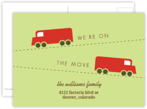 Moving Van Postcard Moving Announcement