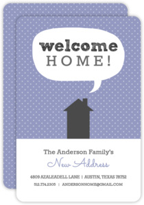Welcome Home Moving Announcement