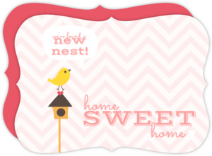 Chevron Pattern Bird House Moving Announcement